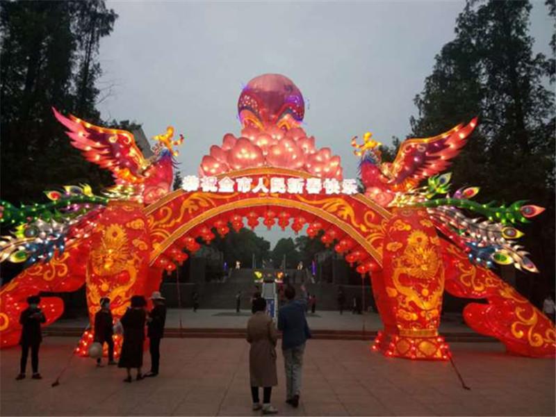 2020湖北省京山市文峰公园新春灯会,延迟在五一华丽点亮