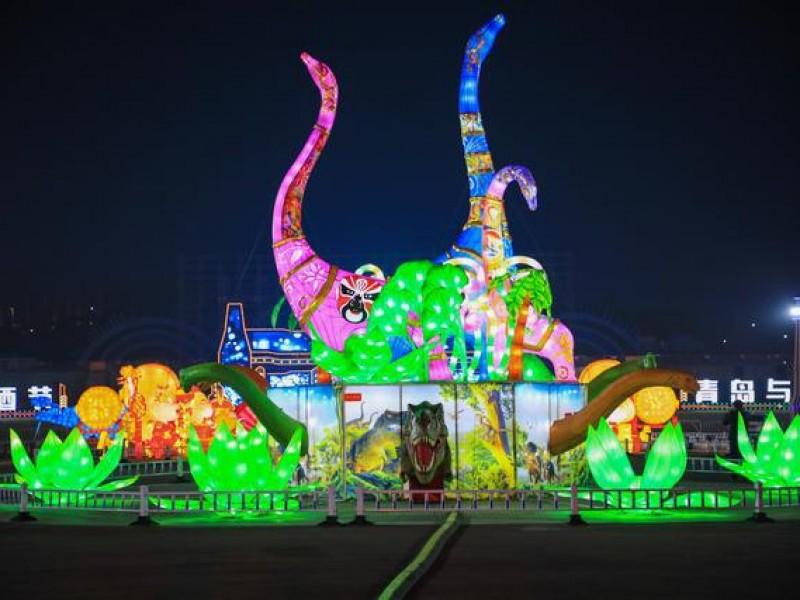 2021青海西海岸金沙滩啤酒城新春灯会
