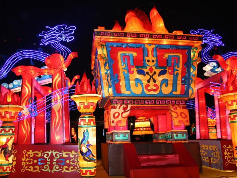 2020重庆江津鼎山公园五一灯会,开启大型游园灯会