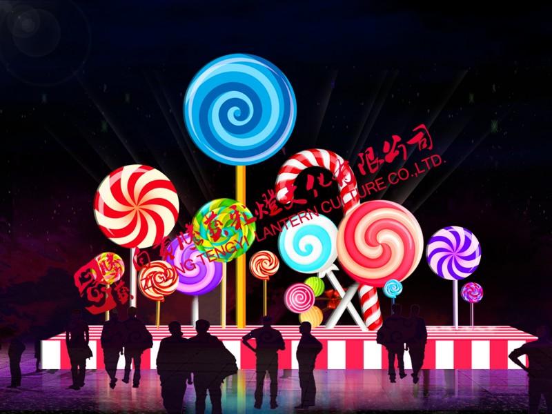 彩灯制作-儿童棒棒糖灯组
