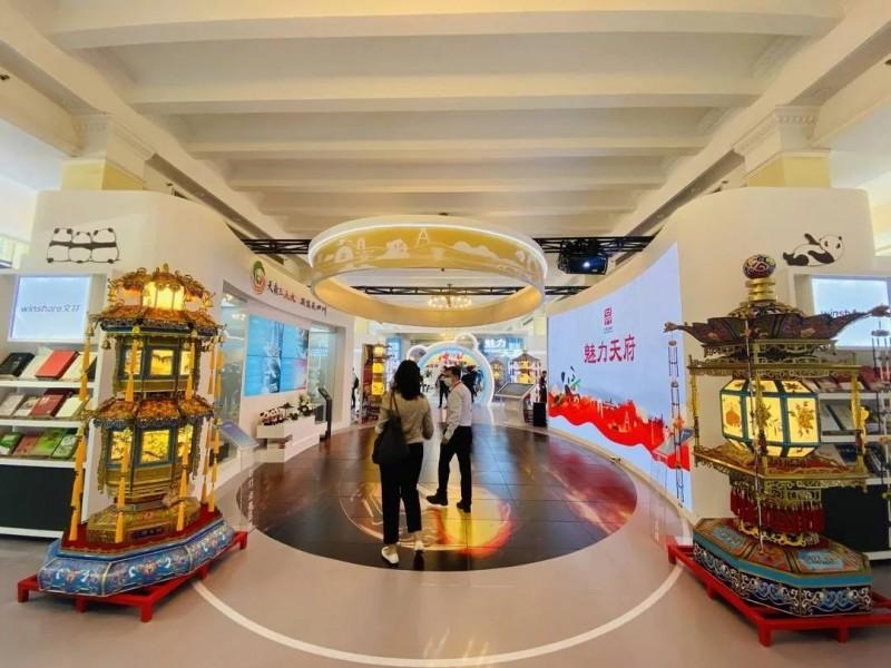 """自贡""""贡灯""""亮相2021年中国自主品牌博览会"""